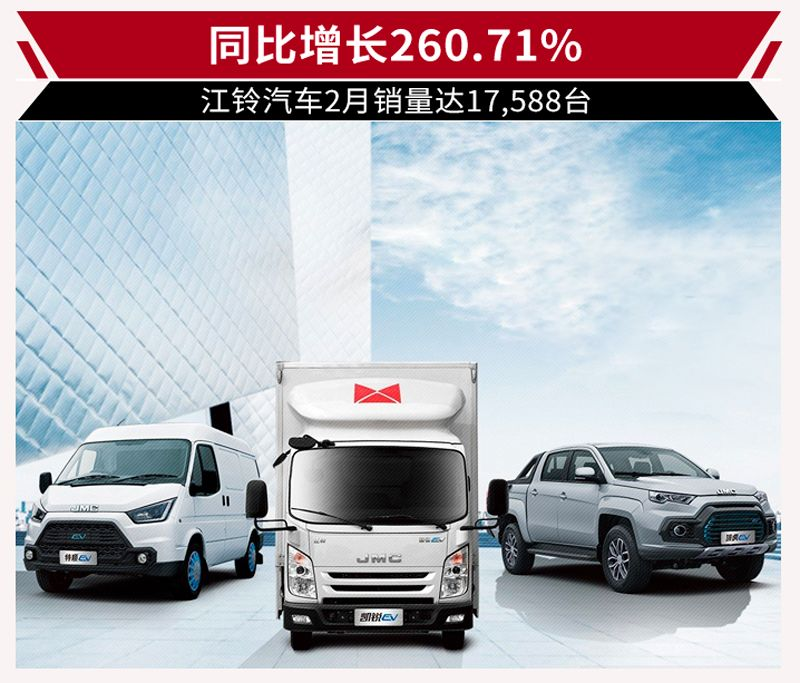 皮卡车型抢眼 江铃汽车2月产销数据发布-汽车新闻